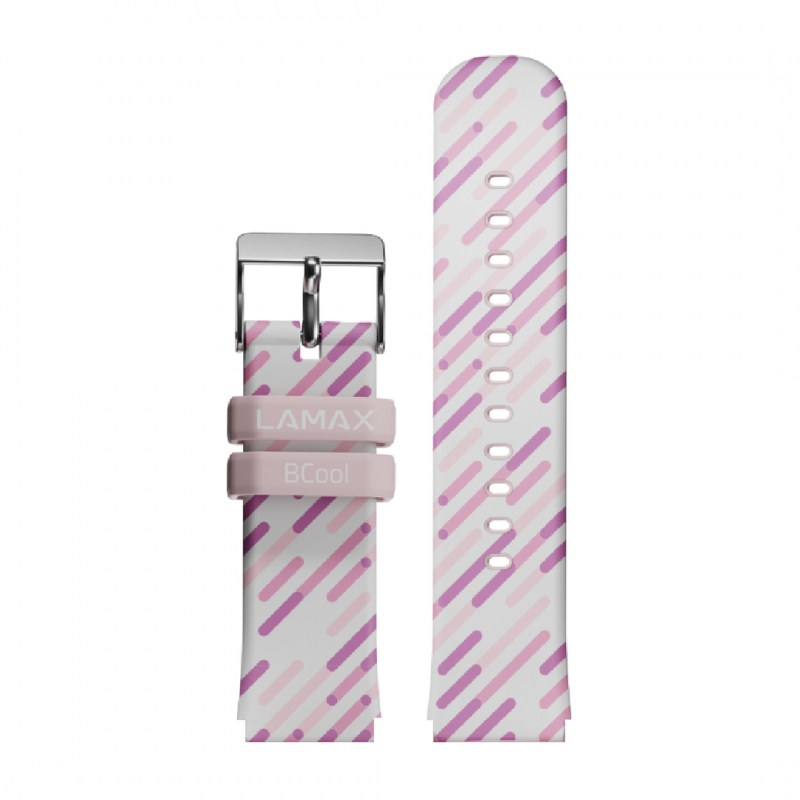 LAMAX BCool strap pink stripes